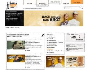Aktionswebsite der Kampagne